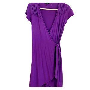 Flattering Purple wrap Tart M cotton jersey dress